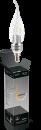 Свеча витая прозрачная на ветру 5Вт E14 2700K, LED
