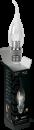 Свеча прозрачная на ветру 3Вт E27 2700K, LED