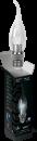 Свеча прозрачная на ветру 3Вт E27 4100K, LED