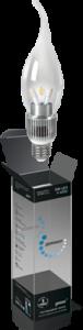Свеча прозрачная на ветру 5Вт E274100K, LED