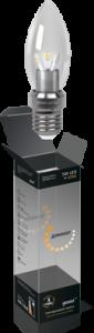 Свеча прозрачная 5Вт E27 2700K, LED