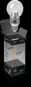 Шар прозрачный 5Вт E27 2700K, LED