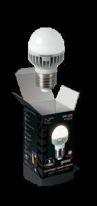 Шар 6Вт 2700K Е27, LED