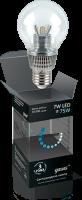 Шар D55 прозрачный 7W E27 4100K  диммируемая