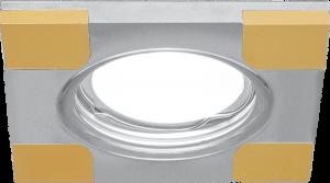 Светильник Gauss Aluminium AL009 Квадрат. Хром/Золото, Gu5.3 1/30