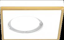 Светильник Gauss Aluminium AL002 Квадрат. Белый/Золото, Gu5.3 1/30