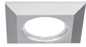 Светильник Gauss Aluminium AL007 Квадрат. Матовый алюминий, Gu5.3 1/30