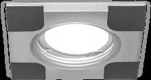 Светильник Gauss Aluminium AL008 Квадрат. Хром/Черный, Gu5.3 1/30
