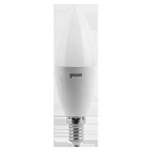 Лампа Gauss LED Candle E14 6.5W 100-240V 2700К 1/10/50
