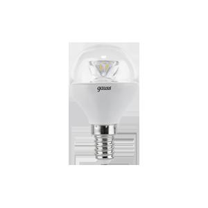 Лампа Gauss LED Globe E14 6.5W 100-240V 2700K 1/10/50