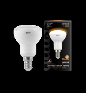 Лампа Gauss LED R50 E14 6W 2700K 1/10/50