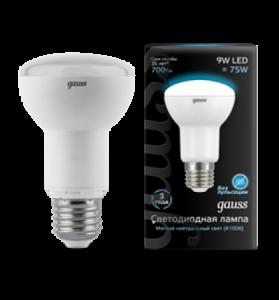 Лампа Gauss LED R63 E27 9W 4100K 1/10/40