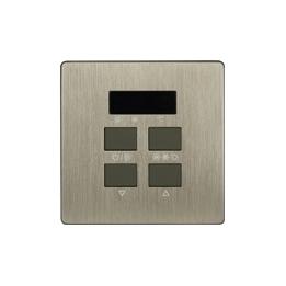 HDL-MPAC01.48 Панель управления кондиционером серии iElegance, Brushed Bronze
