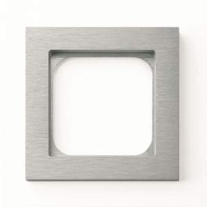 Рамка - 1 пост - алюминий арт.001-01