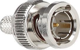 002600 Штекер BNC для выч. техники с позолоченным внутренним проводником 75 Ом