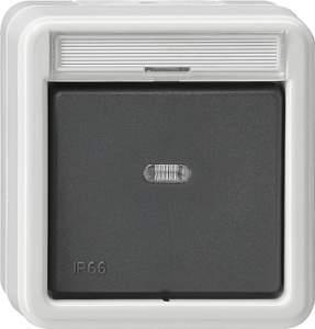 010231 Выключатель одноклавишный 2-полюсный. IP66