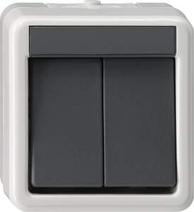 010530 Выключатель двуклавишный IP44