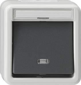 011330 Выключатель сподсветкой и полем для надписи 3-полюсный IP44