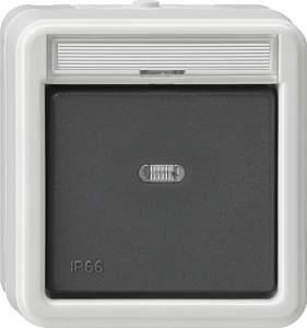 011631 Выключатель сподсветкой и полем для надписи универсальный IP66