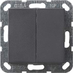 012528 Выключатель с самовозвратом 2 клавишный