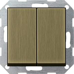 0125603 Выключатель с самовозвратом 2 клавишный