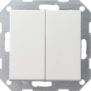 012827 Двойной выключатель с 4 выходами