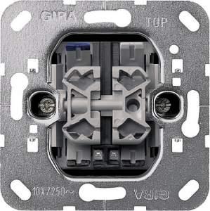 014500 Выключатель двухклавишный с контрольной подсветкой