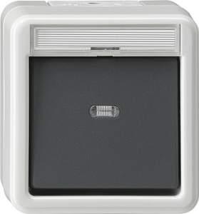 015230 Кнопочный выключатель с полем для надписи IP44