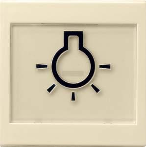 """021601 Клавиша с полем для надписи 37*47 мм  и символом """"свет"""""""