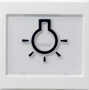 """021627 Клавиша с полем для надписи 37*47 мм  и символом """"свет"""""""