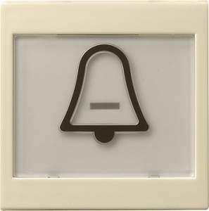 """021701 Клавиша с полем для надписи 37*47 мм  и символом """"звонок"""""""