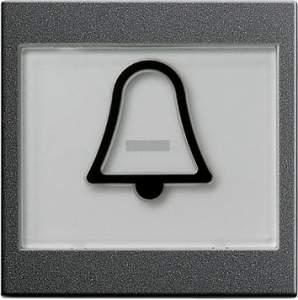"""021728 Клавиша с полем для надписи 37*47 мм  и символом """"звонок"""""""
