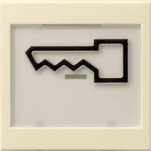 """021801 Клавиша с полем для надписи 37*47 мм  и символом """"дверь"""""""