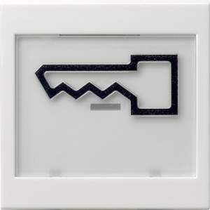 """021803 Клавиша с полем для надписи 37*47 мм  и символом """"дверь"""""""