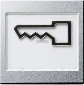 """021826 Клавиша с полем для надписи 37*47 мм  и символом """"дверь"""""""