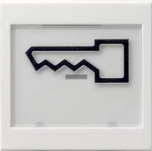 """021827 Клавиша с полем для надписи 37*47 мм  и символом """"дверь"""""""