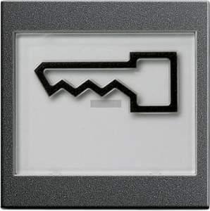 """021828 Клавиша с полем для надписи 37*47 мм  и символом """"дверь"""""""