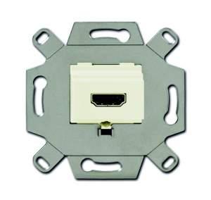 0230-0-0430 BJE Мех Механизм HDMI-розетки/разъёма, HDMI-type A, Full HD, 20 полюсов, цвет слоновая кость