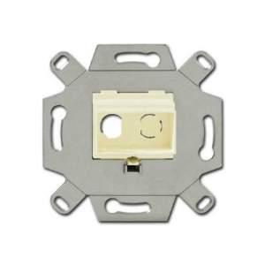 0230-0-0444 BJE Слоновая кость Адаптор/суппорт для RCA-разъёмов (колокольчик/тюльпан)