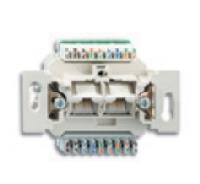 0230-0-0398 BJE Мех Компьютерная/телефон. розетки 2-ой UAE,8/8 полюсов, RJ45, категория 5е, неэкр.
