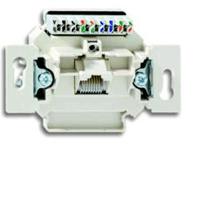 0230-0-0399 BJE Мех Компьютерная/телефон. розетка 1-ая UAE, 8 полюсов, RJ45, категория 6е, неэкр.