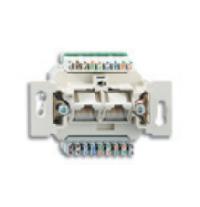 0230-0-0400 BJE Мех Компьютерная/телефонная розетка 2-пост.,UAE,8/8 полюсов, RJ45, кат.6е,250 МГц