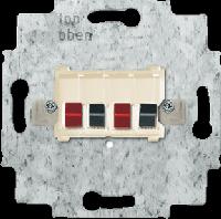 0230-0-0402 BJE Мех Беж Аудиорозетка 2-ая (накладки 1766-хх и 2539-21х)