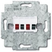 0230-0-0464 (0230-0-0403) BJE Мех Бел Аудиорозетка 2-ая (накладки 1766-хх и 2539-21х)