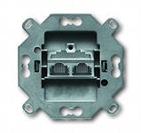 0230-0-0408 BJE Мех Компьютерная розетка 2-ая наклонная (5 кат, 155 Мбит/сек)