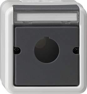 027230 Корпус для приема командный и сообщающих устройств 22.5 мм