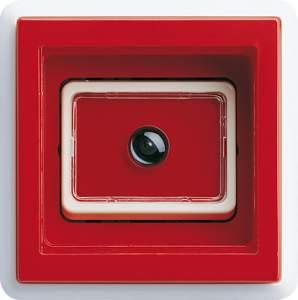 028827 Накладка под съемное стекло с клавишей в сборе с одномсной рамкой