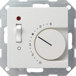 039203 Терморегулятор с размыкающим контактом. выключателем и контрольной лампой