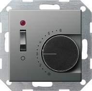 039220 Терморегулятор с размыкающим контактом. выключателем и контрольной лампой