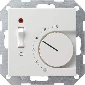 039227 Терморегулятор с размыкающим контактом. выключателем и контрольной лампой